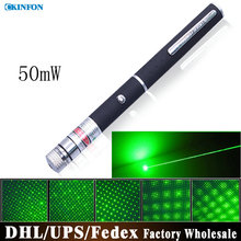 Free DHL Fedex 50pcs/lot 50mW Green Laser Pointer Pen Green Twinkling Laser Pointer