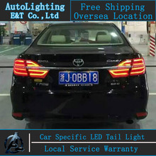 Car Styling LED Tail Lamp for Toyota Camry tail lights 2014-2015 New Camry LED Tail Light rear lamp drl+signal+brake+reverse