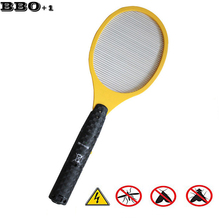 Hot Electric Mosquito Racket Outdoor Fly Zapper Electronic Mosquito Killer Racket Bug Zapper Mosquito Swatter Raquete mosquito(China)