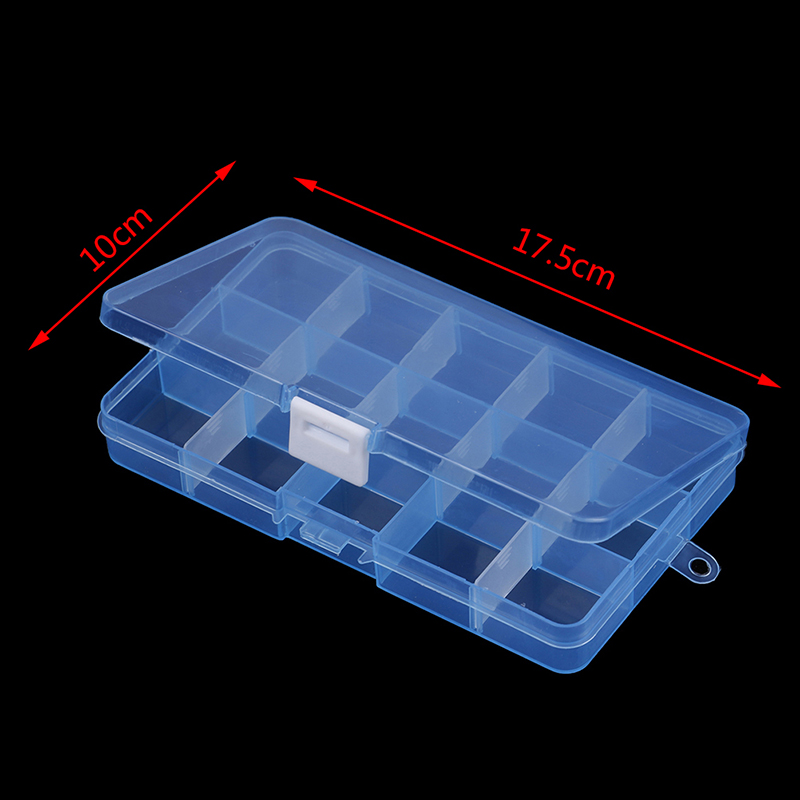 1pcs 15 Grids Slots Jewelry Packaging Box Portable Practical Diy Beads Storage Screw Jewelry Tool Case New