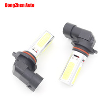Automobiles Light Bulb 9005 HB3 LED Cob Fog Light Car Daytime Running Lights H10 DRL LED fog lamp Auto 12v White 1x(China)