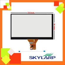 Original 7 inch 6 wire Capacitive touch Screen Panel For Car navigation DVD tablet PC 6 pin 164*99 164mmx99mm Touchscreen