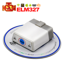 2017 Super MINI WIFI ELM327 OBD2 / OBDII Diagnostic tool ELM 327 V2.1 with ON/OFF Switch code reader Scanner FREE SHIPPING