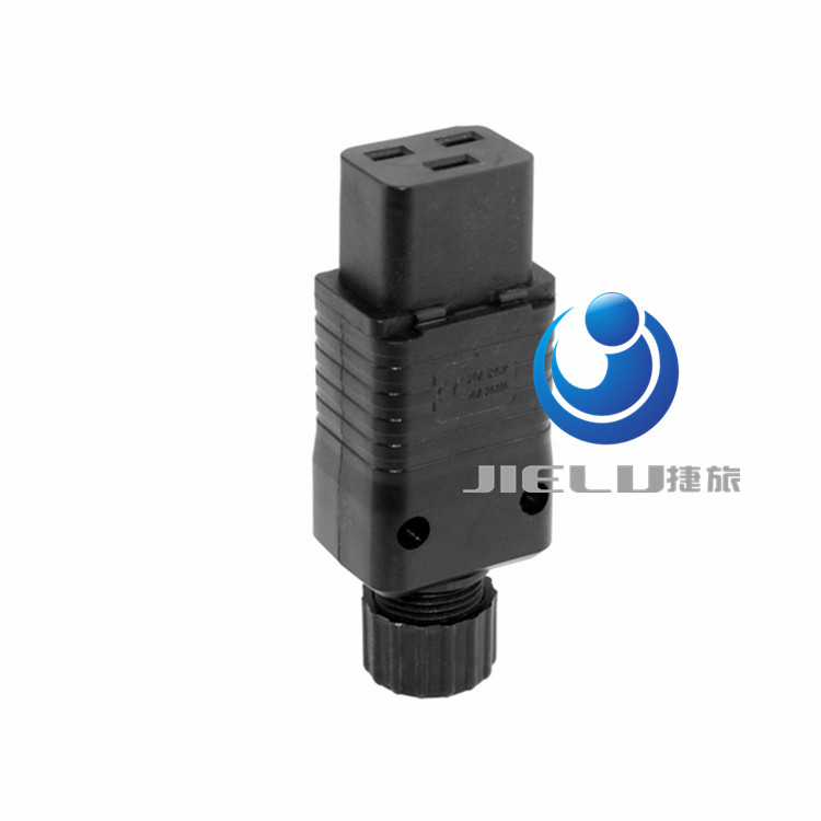 IEC 320 C19 16A Power Cord Connector,Black PDU IEC 320 C19 Rewirable Socket, 10 pcs<br>