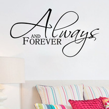 DCTOP DIY Home Decor Always And Forever Wall Art Stickers Characters Removable Vinyl Living Room Wall Decal Decoration