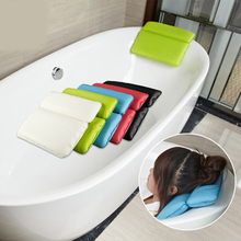 Comfortable Bath Pillow Bathroom SPA Soft Pillows Bathtub Headrest with Suction Cup Waterproof Bath Bathroom Accessories Product(China)