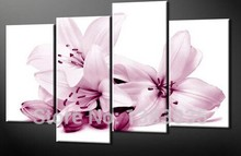 Hand Painted Chinese Oil Paintings Of Flowers 4pcs Modern Abstract Canvas Picture Wall Art Home Decor Sets