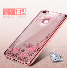 Luxury Flowers Crystal Clear Soft Case for Xiaomi Redmi Note 3 4 Pro Case For Xiaom Mi5 Mi5s Case Xiaomi Redmi 4 4A 4 Pro Cover