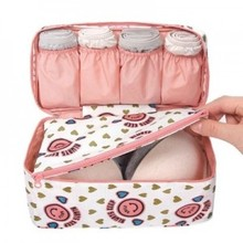Travel Stroage Bag Lady Make up cosmetic Toiletries Clothes Bra organization Weekend Overnight Underwear Accessories Supplie