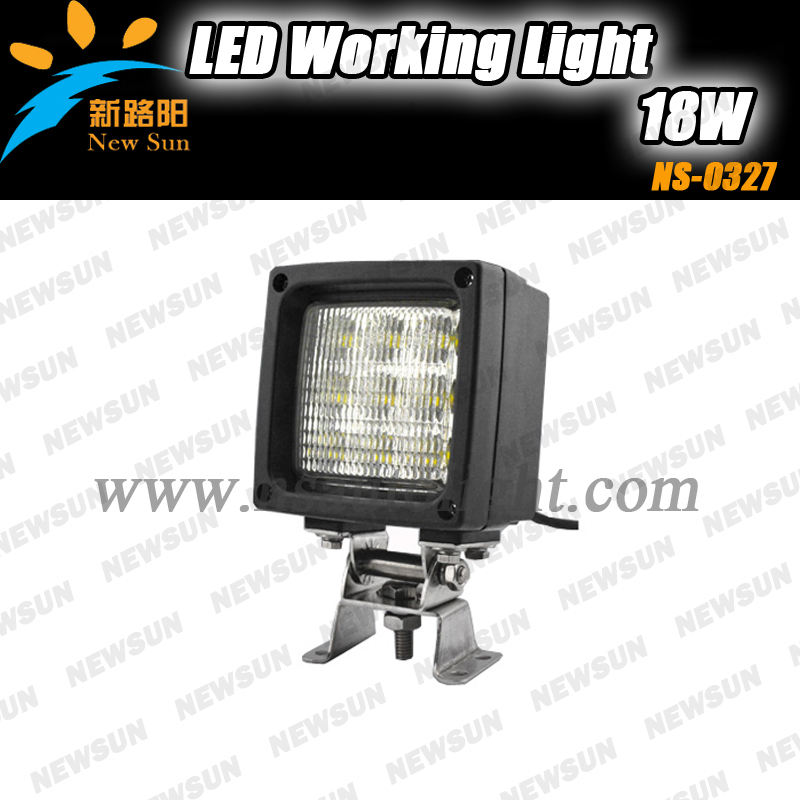 27W Square led work lights waterproof IP68 offroad led working lamps driving lights for vechicle with CE ROHS<br>