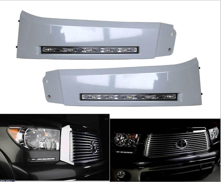 Hireno Car DRL Waterproof ABS 12V Daytime Running Lights for Toyota Tundra 2007~2013 and Sequoia 2008~ON Fog lamp 2PCS<br><br>Aliexpress