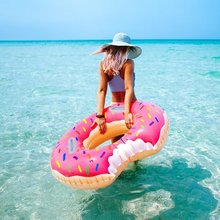 Inflatable donut swimming ring 60-120 for adult child lying in Swimming Pool Toys PVC 0.25mm Swimming laps inflatable circles