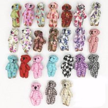 "20pcs 4.5cm(1.8"") plush toy teddy bear cartoon cloth dolls fabric join bears creative DIY handmade jewelry accessories"