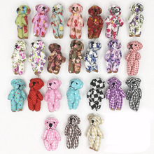"20pcs 4.5cm(1.8"") plush toy teddy bear cartoon cloth dolls fabric join bears creative DIY handmade jewelry accessories(China)"