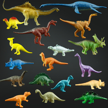 18pcs/lot Dinosaurs of  Large Plastic Toy Animal Model of Triangular Plesiosaur Pterosaur Classic Toys for Children