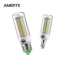 E27 E14 LED lamp 220V 5730SMD 24 - 89 LEDs Spotlight No Flicker Replace Energy Saving & Fluorescent Bulbs & Incandescent Bulbs