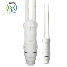 EASYIDEA Outdoor Wifi Repeater 2.4G + 5GHz Wireless WiFi Amplifier with AP WISP AC600 27dBm Wifi Router High Power Wifi Extender(China)