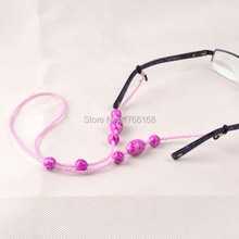 Wholesale 20PCS Eyewear Cord Reading Glass Neck Strap Eyeglass Holder Red Cord Glasses Strap Eyewear Accessories FreeShipping(China)