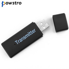 Powstro Portable USB Bluetooth 3.0 Wireless Stereo Audio Music Transmitter For TV MP3 PC Laptop(China)