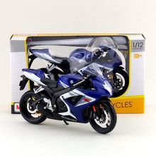 Maisto/1:12 Scale/Simulation Diecast model motorcycle toy/SUZUKI GSX-R750 Supercross/Delicate children's toy or colllection(China)