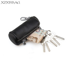 XZXBBAG 100% Genuine Leather Key Wallet Pouch Keychain Cover Men Door Car Key Case Bag Holder Women Key Organizer Housekeeper