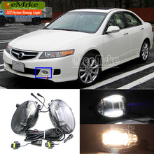 eeMrke Car Styling Led DRL For Acura TSX 2006 2007 2008 2in1 LED Fog Lights With Q5 Lens Daytime Running Lights(China)