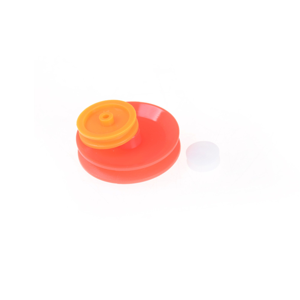 7pcs Plastic Pulley DIY Drive Accessories For DIY Toy Car Accessories Mixed Belt Pulley Pack Select 7 Models Plastic Gear Bag