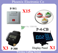 2016 new hospital wireless nurse call system With Wireless Led Number Display And Pager Watch and System Bells(China)