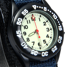 New Super Light Luminous Quartz Kids Sports Watch Canvas Nylon Strap Military Wristwatch For Boy Students Christmas Gifts(China)