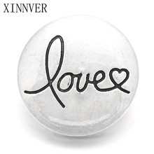 Buy 10Pcs/lot Wholesale Xinnver Snaps Buttons Jewelry 18mm Metal Charm Love Buttons Fit 18/20mm Snaps Bracelets Jewelry ZA562 for $3.70 in AliExpress store