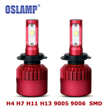Oslamp Led SMD Chips H7 Led H4 Headlight 6500K Bright Automobile 9005 9006 Front Car Bulbs H11 Led Fog Lamps HB3 HB4 All-in-one(China)