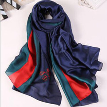 Hot summer bandana Ladies shawl section the silk scarves in autumn high-end color navy blue skull scarves gift free deliveryA909