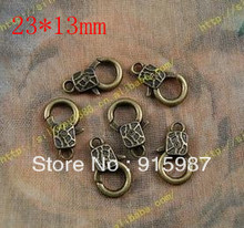 Sweet Bell  50PCS/lot 23*13mm lobster clasp, buckle bags  design restoring ancient ways lobster clasp accessories wholesale