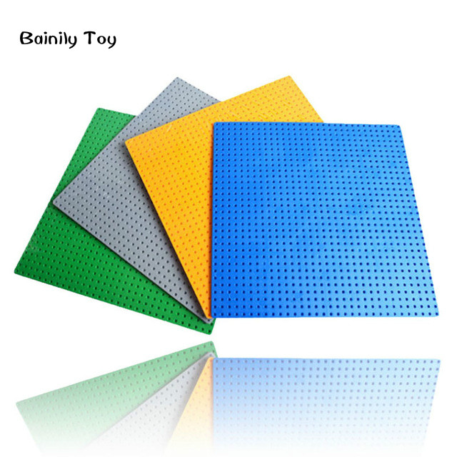 4 Pcs/lot 32*32 dot Small Particles Building Blocks Base Plate duploes Baseplate compatible with legoe Kids Bricks Baseplate<br><br>Aliexpress