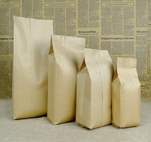 12-25Alice,9*6*25cm Brown kraft candy bag packaging,200pcs/lot paper food Bag Pouch for Snack Cookies Candy(China)