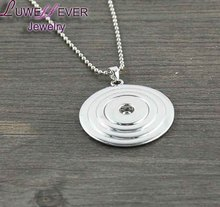 Ginger Snap Button Pendent Necklace Copper Silver Jewelry Fit 18mm Snap Button Charm jewelry For Women
