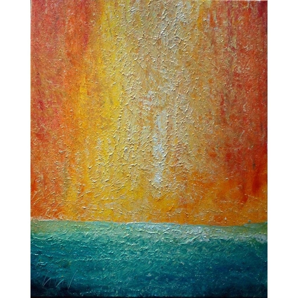 Beach WATER Sand ARUBA Abstract minimalist canvas, aerial SUNSET