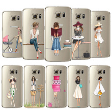 Phone Case Cover For Samsung Galaxy S5 S6 S6Edge S6edgeplus S7 S7edge Soft Silicon Fashion Shopping Girl Mobile Phone Bag