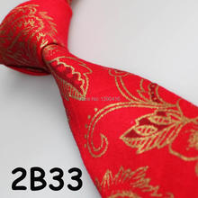 XINCAI Cheap Sell !2017 Latest Style Popular/Good Quality/Fashion Bright Red/Golden Floral Cotton luxury men ties/formal men tie