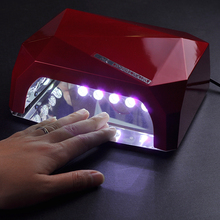 Nail Art Lamp Care Machine 36W LED Light Diamond Shaped Best Curing Nail Dryer for UV Gel Nail Polish free shipping