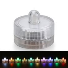 10pcs/lot 100% Waterproof LED Tea Light For Wedding Party Events Holidays Floral Arrangement Decoration Submersible LED Light