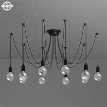 Retro Hanging Lamps E27 Edison Bulb DIY Pendant lights Modern Nordic Fixtures Spider Ceiling Lamp Fixture Light for Living Room(China)