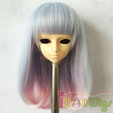 New Design Ombre Colors Heat Resistant Synthetic Doll Curly Wigs 1/3 1/4 1/6 1/8 for Choice
