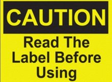 2000pcs/lot 6x5cm CAUTION READ THE LABEL BEFORE USING for machine instruction label sticker, Item No.CA20