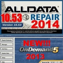 2015 version Auto software with manual alldata 10.53 and Mitchell 2013 for any computer fast free shipping(China)