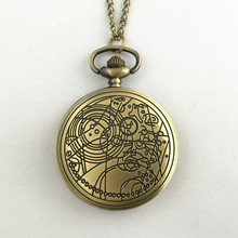 FANTASY UNIVERSE Freeshipping 1pc a lot Doctor Who pocket watches necklace Dia47mm HYT28
