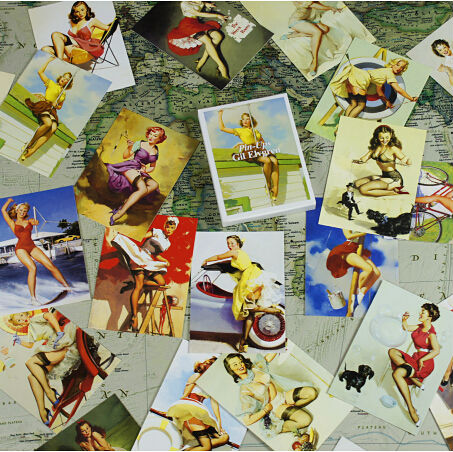 30pcs/lot Artist Gil Elvgren American and Europe Retro Vintage Poster Sexy Beauty girls illustrator Postcards Free shipping<br><br>Aliexpress