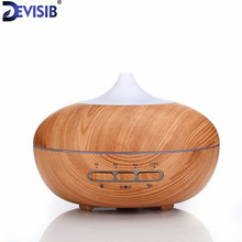 DEVISIB Intelligence Essential Oil Diffuser Wood Grain Ultrasonic Aroma Cool Mist Humidifier 300ml for Office Bedroom Baby Room(China)