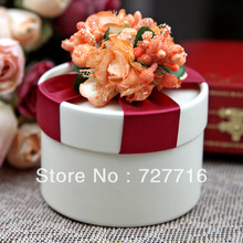 10PCS/LOT PAPER gift box ORANGE Wedding Favor Boxes party candy box - Free shipping(China)