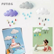 Baby Lovely Newborn Photography Props Raining Clouds Water Drop Baby Bed Hanging Toys Boy Girl Kids Room GPD8086